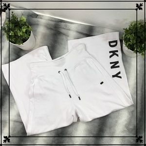 DKNY | High Waist Wide Leg Drawstring Sweats| Sz.M
